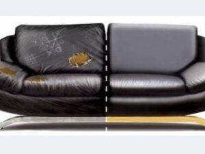 Перетяжка кожаного дивана в Рязани