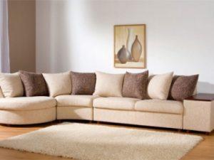 Перетяжка углового дивана на дому в Рязани